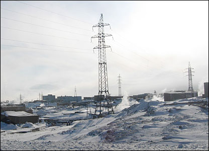 Cables in Norilsk