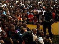 Crowd at Nyagatare