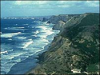 Sea and cliffs at Sagres