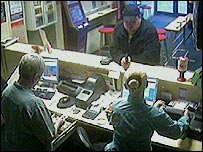 CCTV of the robber - picture courtesy of Greater Manchester Police