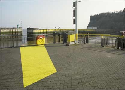 Public art at Cardiff Bay barrage