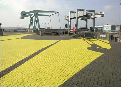 Public art at Cardiff Bay barrage