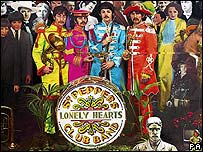 The Beatles' Sgt Pepper album cover