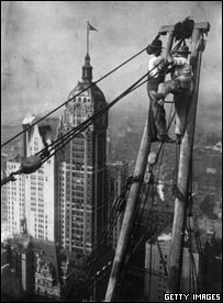 Erecting skyscrapers