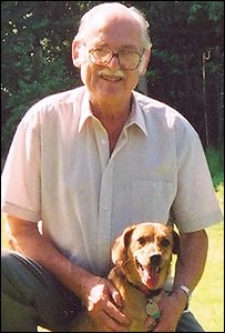 Bill Hendry and Abby the dog