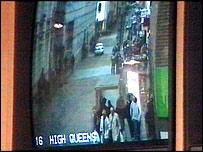 Imagen tomada por una cámara de circuito cerrado en Exeter, Reino Unido