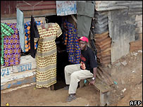 Man in Nairobi, Kenya, shantytown - file photo