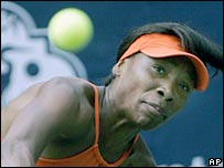 Venus Williams picture on her way to victory over fellow American Meilen Tu