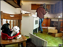Laurie Raye's house emptied of its contents