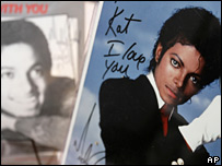 Signed picture of Michael Jackson