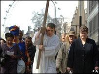 The Good Friday procession