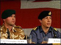 Royal Marine Captain Chris Air and Lieutenant Felix Carman