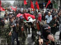 Funeral in the Jabaliya refugee camp, Gaza Strip