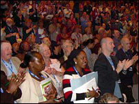 NUT conference ovation
