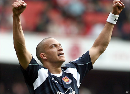 Bobby Zamora after scoring