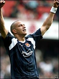 West Ham goalscorer Bobby Zamora