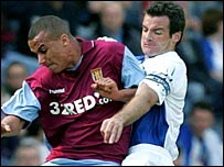 Gabriel Agbonlahor (left) and Ryan Nelson