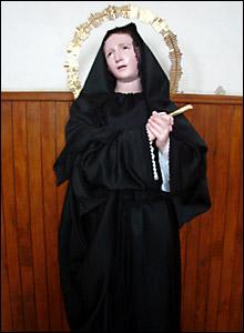 Virgen de los Dolores que existe en Coroneo, municipio de Guanajuato, México,