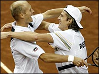 Nikolay Davydenko and Igor Andreev