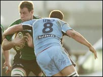 Connacht against Cardiff