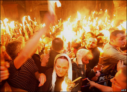 Holy Fire celebrations in Jerusalem