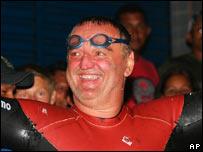 Marathon swimmer Martin Strel