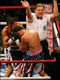Joe Calzaghe and Peter Manfredo