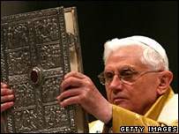 Pope Benedict celebrates the Easter Vigil Mass
