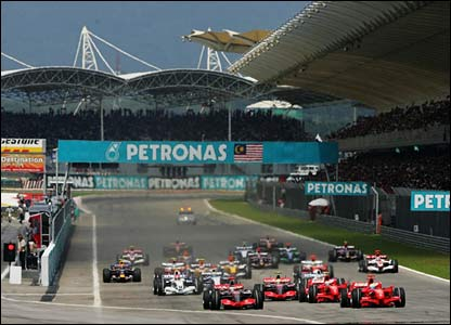 The start in Sepang