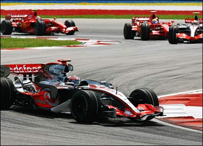 Fernando Alonso takes the lead