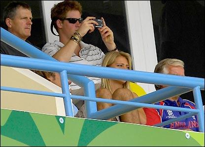 Prince Harry captures the action in Antigua on a camera