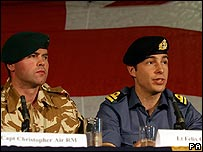 Royal Marine Captain Chris Air and Lieutenant Felix Carman
