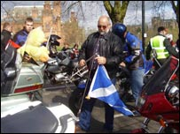 Bikers gather for the event