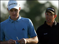Justin Rose and Padraig Harrington