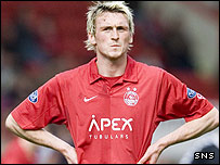 Aberdeen striker Lee Miller