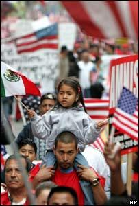 Manifestaci�n de inmigrantes en Los �ngeles
