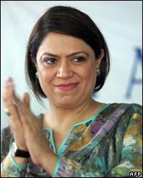 Pakistani Minister for Tourism, Nilofar Bakhtiar