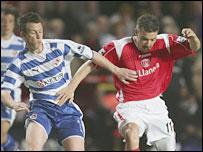 Reading's Nicky Shorey and Darren Ambrose of Charlton