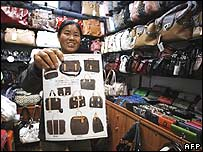 Chinese vendor of counterfeit bags