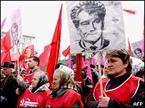 Митинг украинских коммунистов на киевском Майдане Незалежности 10 апреля 2007 года
