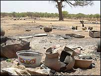 Remains of villages in eastern Chad (Photo: UNHCR)