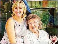 Gillian Cox with mum Beryl MacNulty
