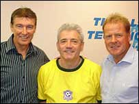Kevin Keegan with Gordon Smith and Murdo MacLeod