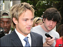 Larry Birkhead at a paternity suit hearing in Nassau 20/3/2007