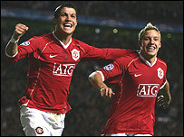 Cristiano Ronaldo and Alan Smith