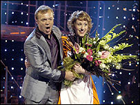 Graham Norton and 'Maria' winner Connie Fisher