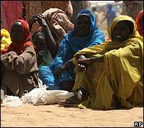 Refugiados en Darfur.