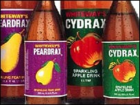 Whiteway's Peardrax and Cydrax, made under licence in Trinidad