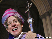 Bishop Katharine Jefferts Schori after her investiture in Washington DC in November 2006