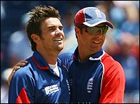 James Anderson and Michael Vaughan